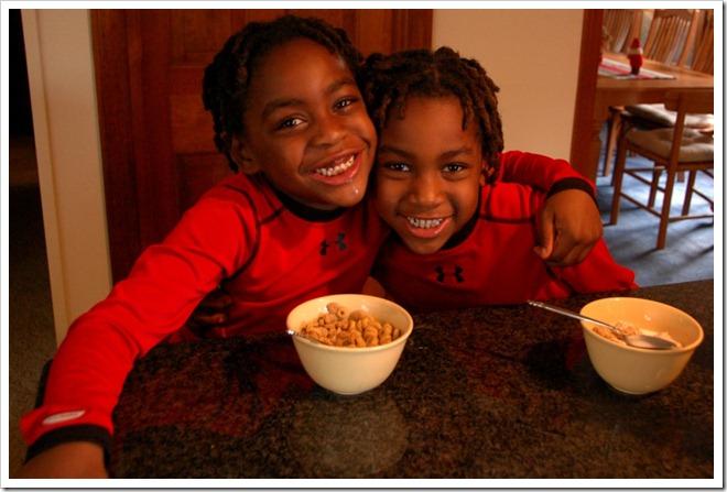 happy boys cereal at mormors kitchen