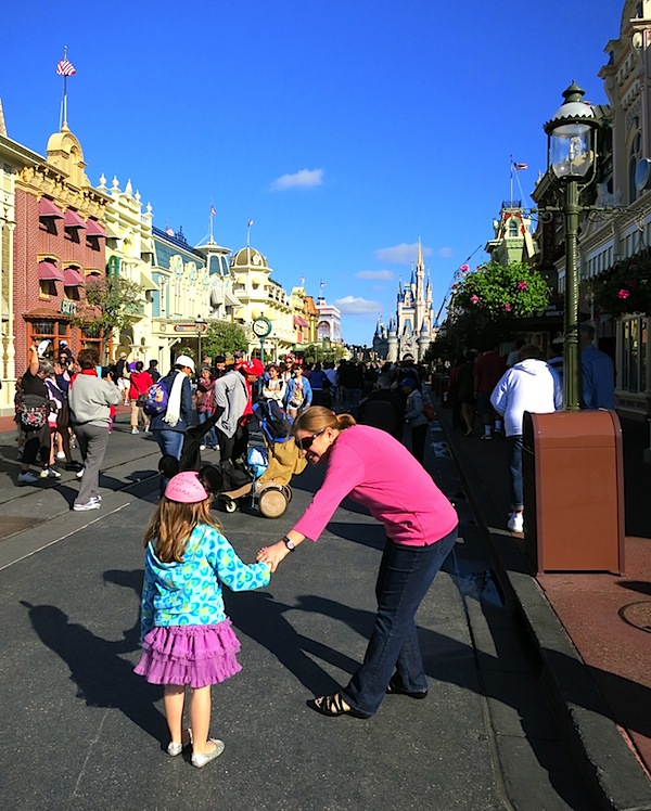 arriving at magic kingdom