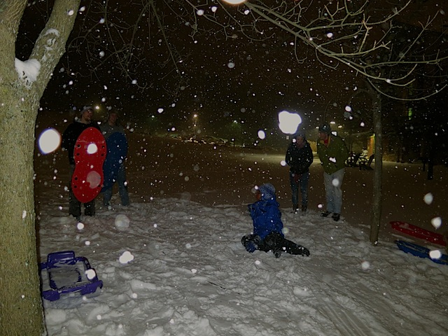 students sledding 5